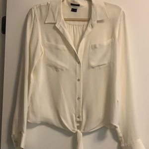 NWOT Theory Blouse with Tie Front
